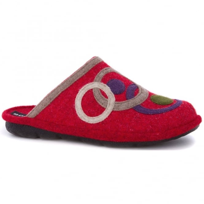 Romika Mikado Adult 70 Slipper Red, comfort shoe with hardwearing outer sole