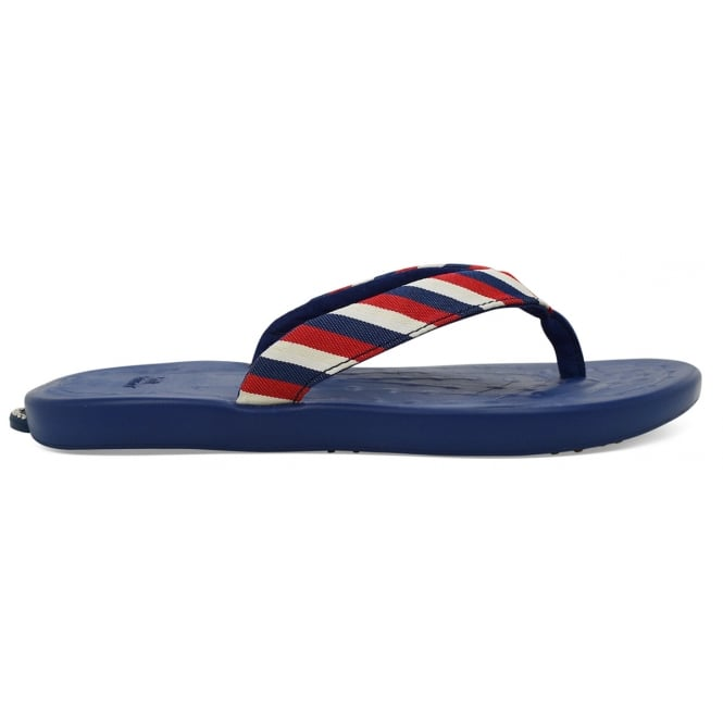 Soft Science Ladies Waterfall Stripe Navy, ultra comfort flip