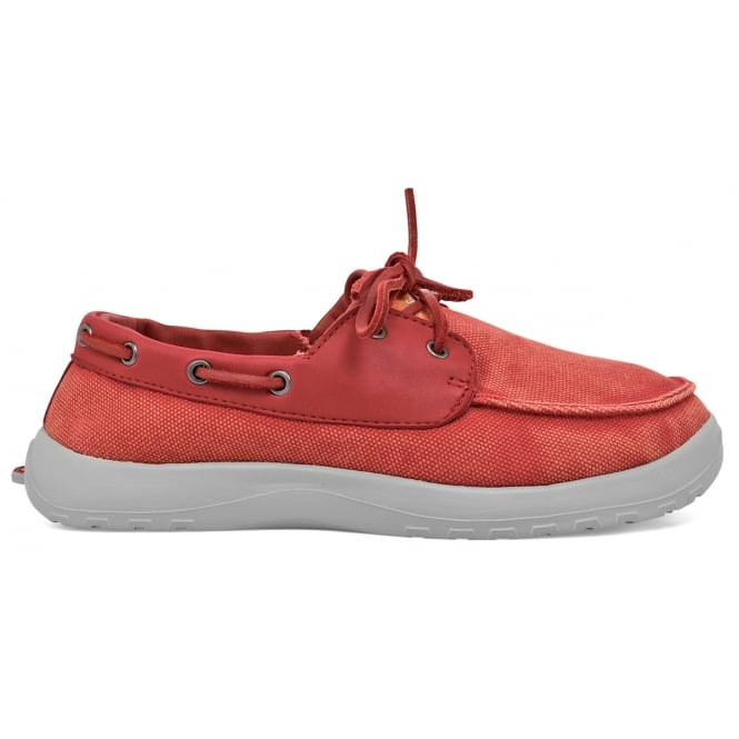 Soft Science Men's Cruise Red, Classic canvas deck shoe style