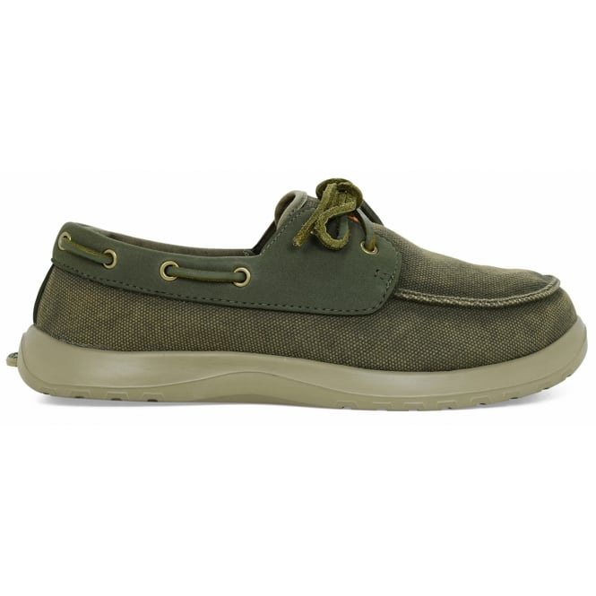 Soft Science Men's Cruise Sage, Classic canvas deck shoe style