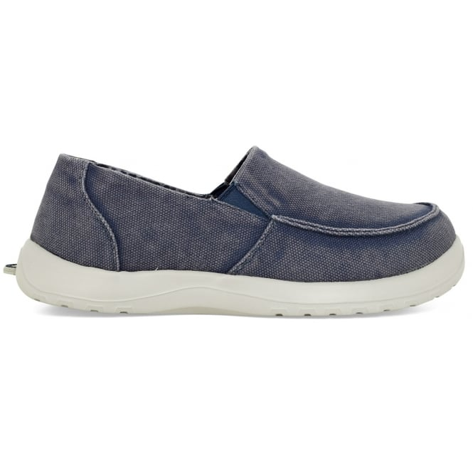 Soft Science Mens Derango Dark Blue, Ultra Comfort Canvas slip on