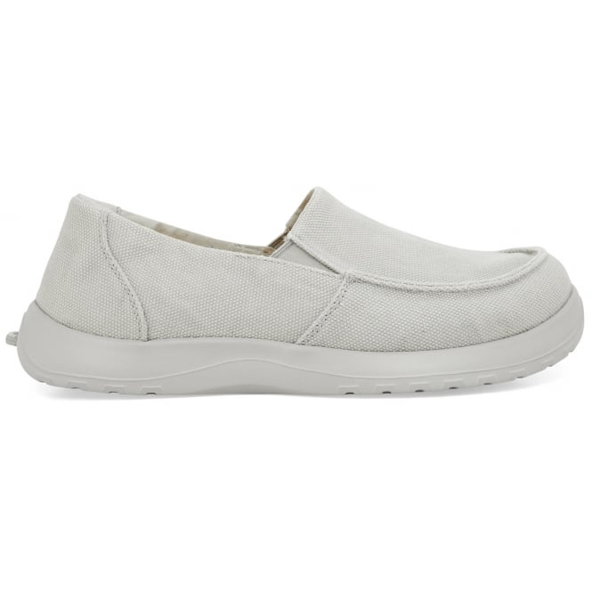 Soft Science Mens Derango Light Grey, Ultra Comfort Canvas slip on