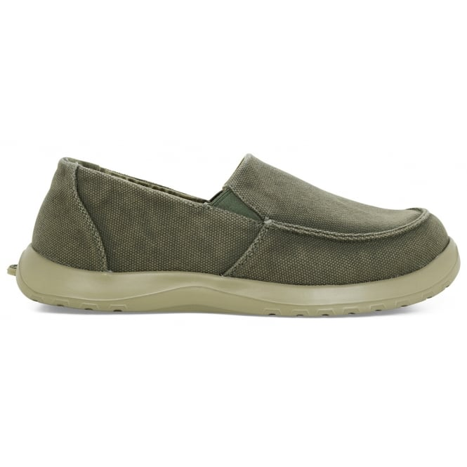 Soft Science Mens Derango Sage, Ultra Comfort Canvas slip on