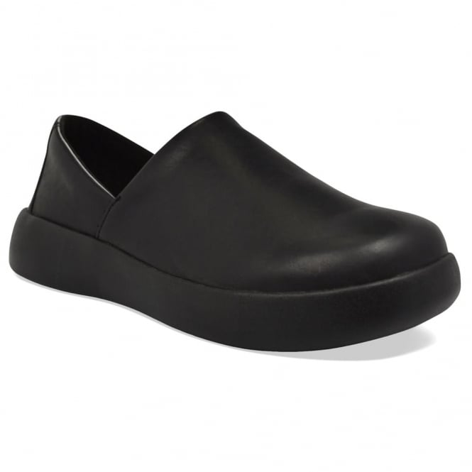 Soft Science Mens Pro Slip-On PU Black, lightweight but supportive non slip work shoe