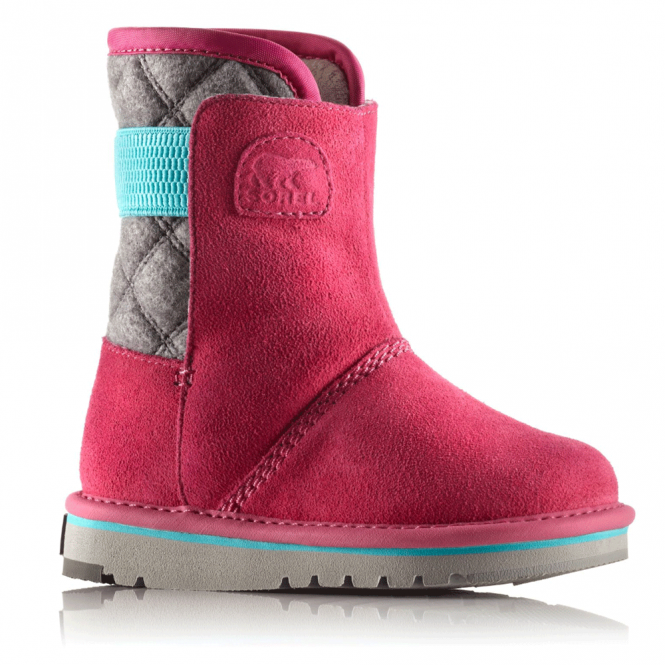 Sorel Kids Newbie NC1873 Glamour, fleece lined water resistant boot
