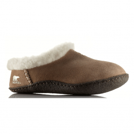 Nakiska Slipper NL1474 British Tan, suede slipper with natural rubber sole