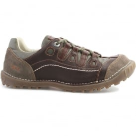 0151 Shotover Shoe Brown Adventure, Stylish shoe with suede and sinai panels