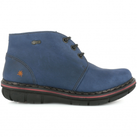 0457 Assen Ankle Boot Blue, lace up ankle leather boot