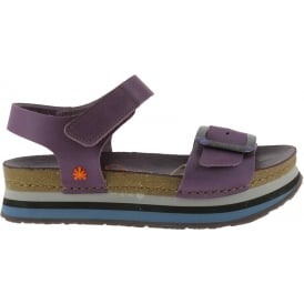 0459 Mykonos Sandal Cerise, Buckle detailed leather uppers