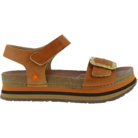 0459 Mykonos Sandal Cuero, Buckle detailed leather uppers