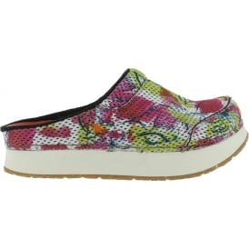 0488 Mykonos Clog Flowers, Fun print textile uppers