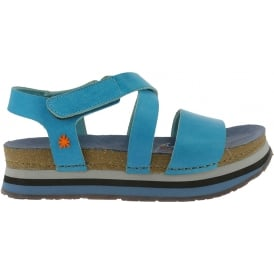 0587 Mykonos sandal Tinted Albufera, leather uppers and rubber outsole