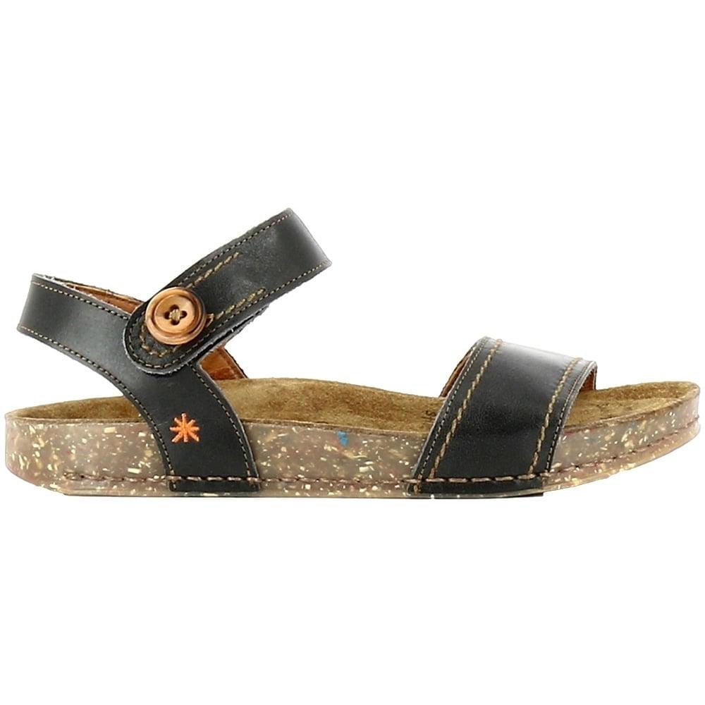 0866 We Walk Sandal Black, leather