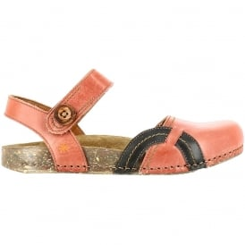 0867 We Walk Closed Toe Flat Granada, leather flat shoe for the ladies
