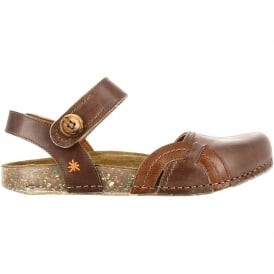 0867 We Walk Closed Toe Flat Moka, leather flat shoe for the ladies