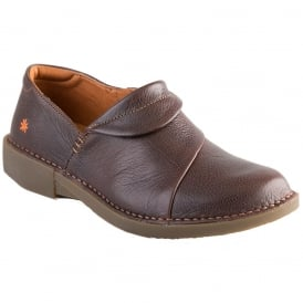 0919 Bergen Shoe Moka, flat leather slip on