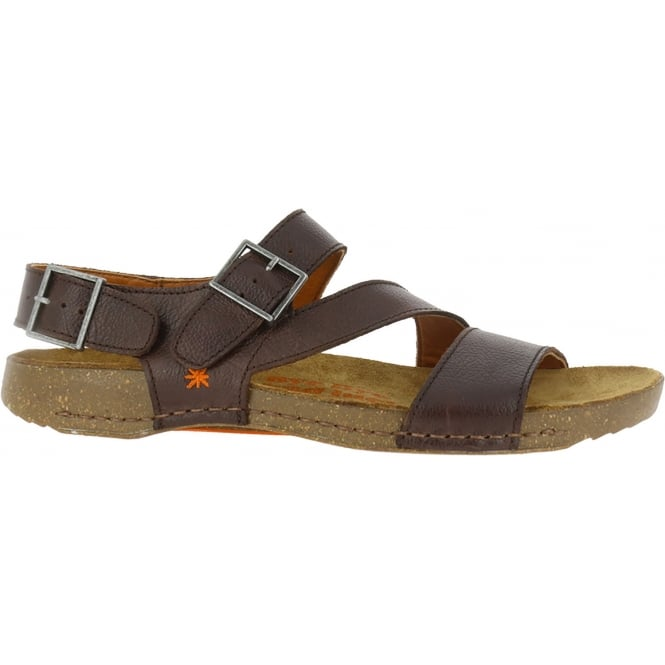 The Art Company 0999 I breathe Sandal Brown, Leather sandal with adjustable straps