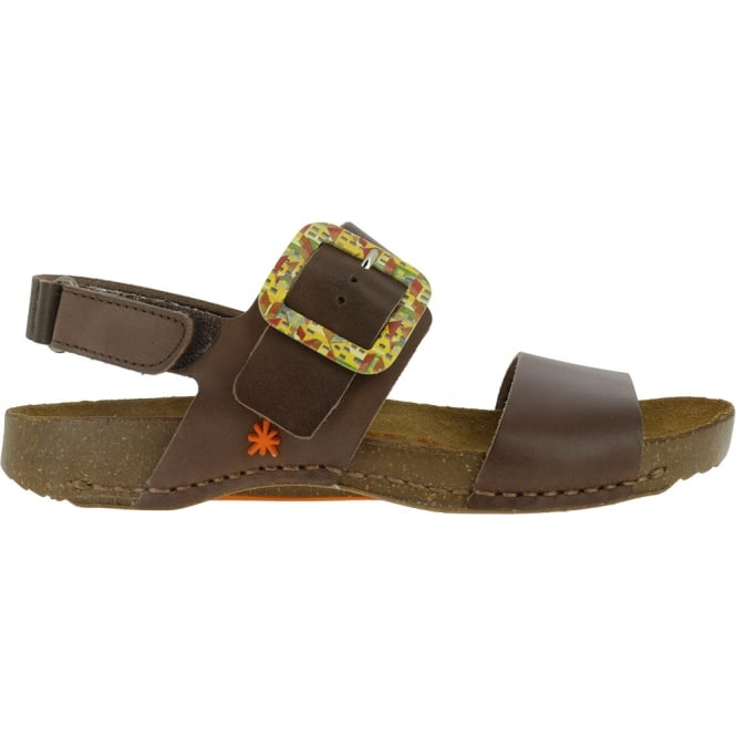 The Art Company 1001 I Breathe Sandal Brown, leather with buckle closure
