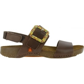 1001 I Breathe Sandal Brown, leather with buckle closure