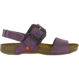 1001 I Breathe Sandal Cerise, leather with buckle closure