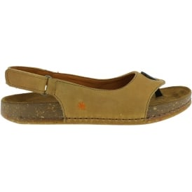 1007 We Walk Sandal Peach, leather toe post shoe