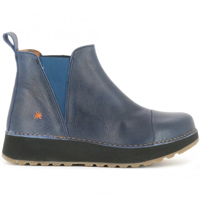 The Art Company 1023 Heathrow Blue, slip on leather ankle boot