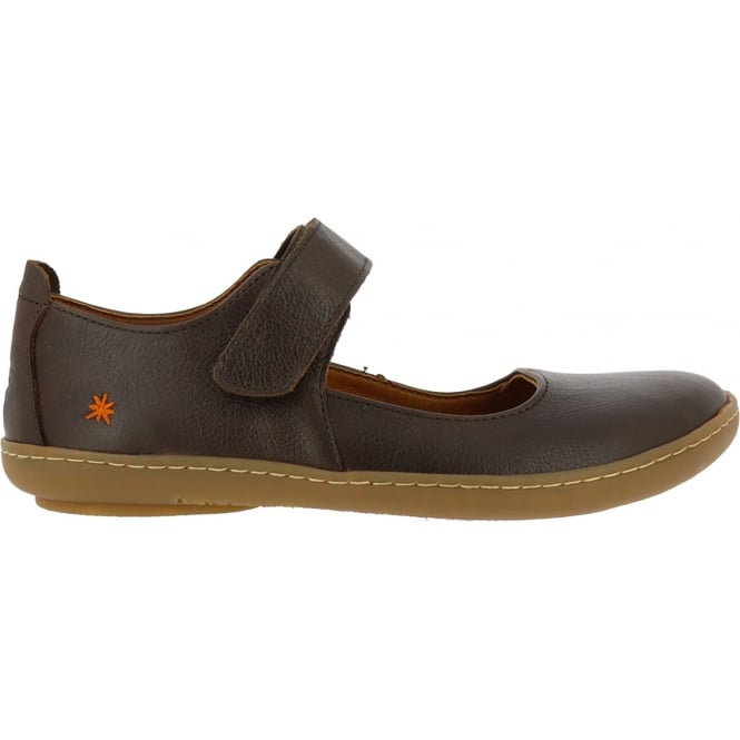 The Art Company 1293 Kio MJ Shoe Brown, leather flat with velcro fastening