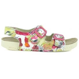 A437 Youth I-play Flowers, Printed leather Youth Sandal