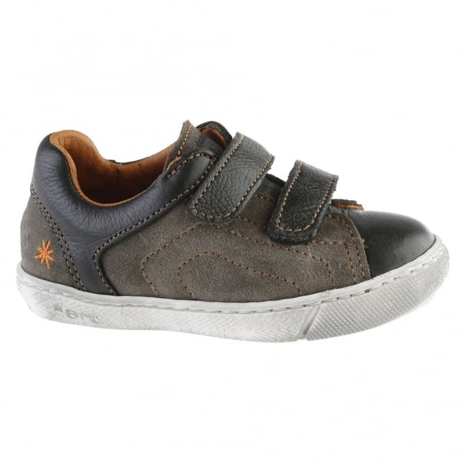 The Art Company A534 Junior Dover Plumb, leather velcro sneaker