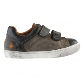 A534 Youth/Adult Dover Plumb, leather velcro sneaker