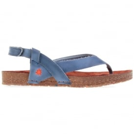 Creta Toe Post 0446 Sandal Tinted Crepusculo, leather flip with adjustable backstrap