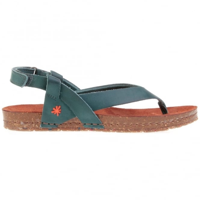 The Art Company Creta Toe Post 0446 Sandal Tinted Plomo, leather flip with adjustable backstrap