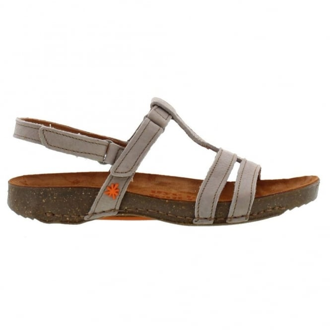 The Art Company I Breathe 0972 Sandal Taupe, with 2 adjustable velcro straps