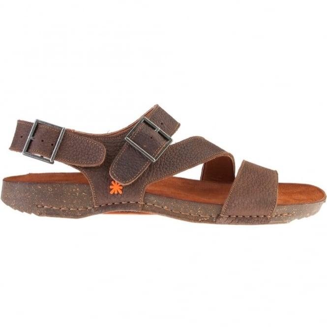 I Breathe 0979 Sandal Moka Leather Sandal With Adjustable