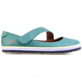 I Smile 0818 Gaucho Flat Albufera, leather flat with velcro fastening