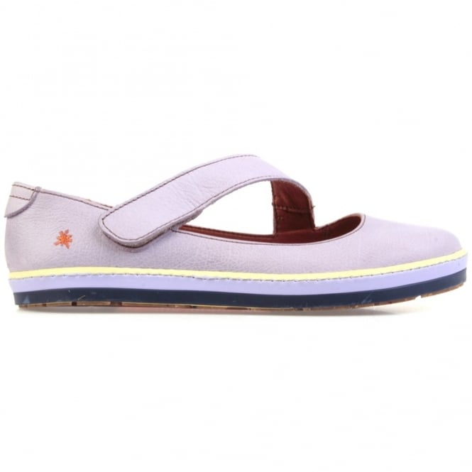 The Art Company I Smile 0818 Gaucho Flat Iris, leather flat with velcro fastening