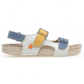 kids A429 I Play Gaucho Lux Suede Bone, buckle leather sandal