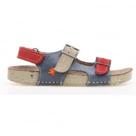 kids A429 I Play Gaucho Lux Suede Crepusculo, buckle leather sandal