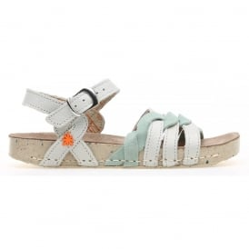 Kids A430 I Play Gaucho Lux Suede Bone, girls buckle up sandal