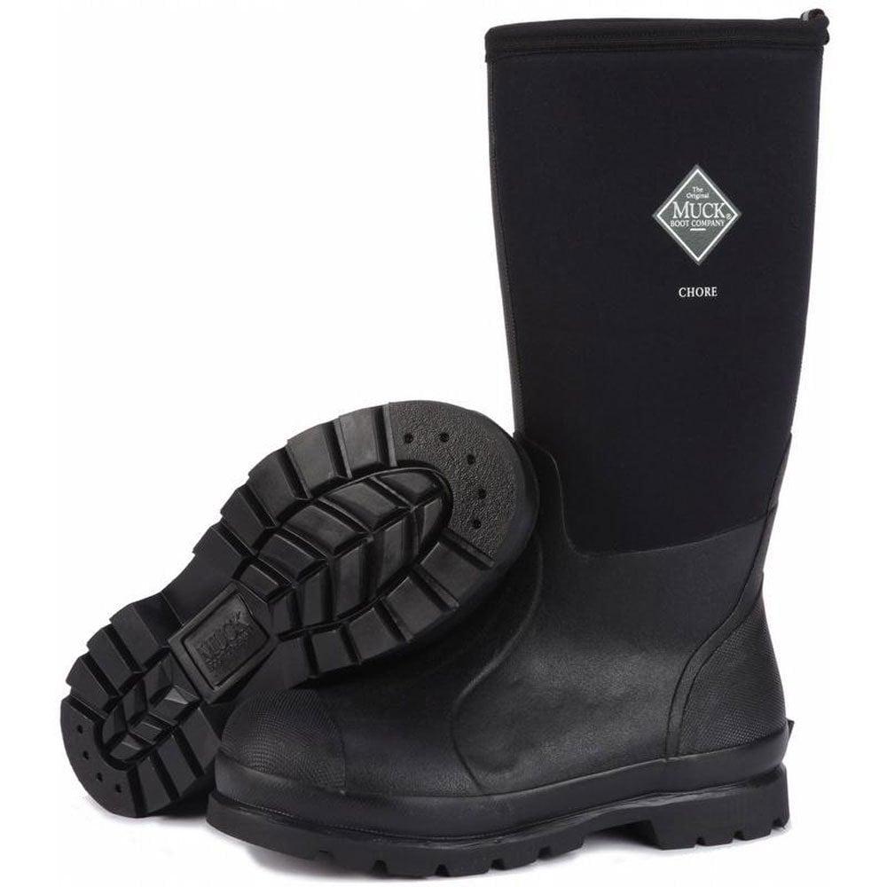 The Muck Boot Company Chore Hi Black The original neoprene lined wellie!
