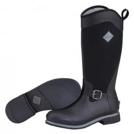Reign Tall Black/Gunmetal, Equestrian style boot