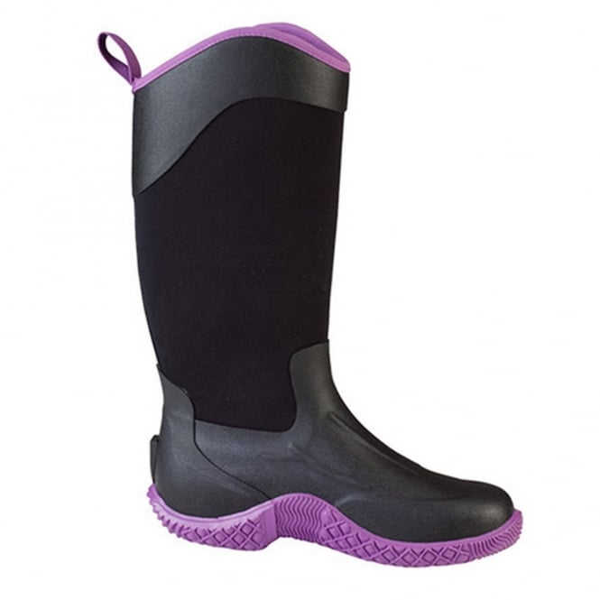 The Muck Boot Company Tack II Tall Black/Purple, Womens, a new take on the original equestrian & farm boot