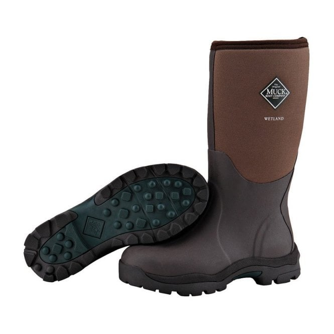 The Muck Boot Company Womens Wetland Boot Brown, Premium Field Boot