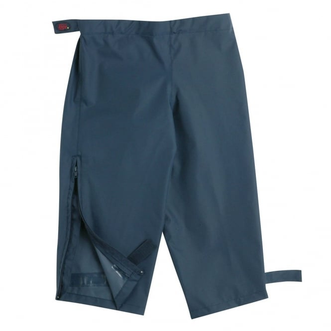 Togz Waist Overtrouser Navy, Easy pull up Waterproofs