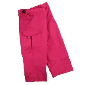 Waist Overtrouser Raspberry, Easy pull up Waterproofs