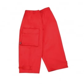Waist Overtrouser Red, Easy pull up Waterproofs