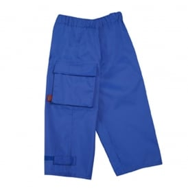 Waist Overtrouser Royal Blue, Easy pull up Waterproofs