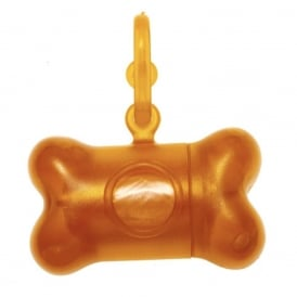 Bon Ton Translucent Orange, Dog disposal bag holder, includes one roll of bags