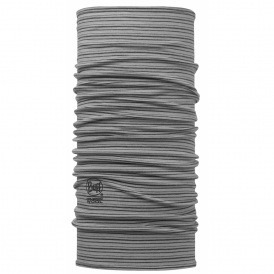 Wool Buff Yarn Dyed Stripes Light Grey, Made from 100% Merino wool